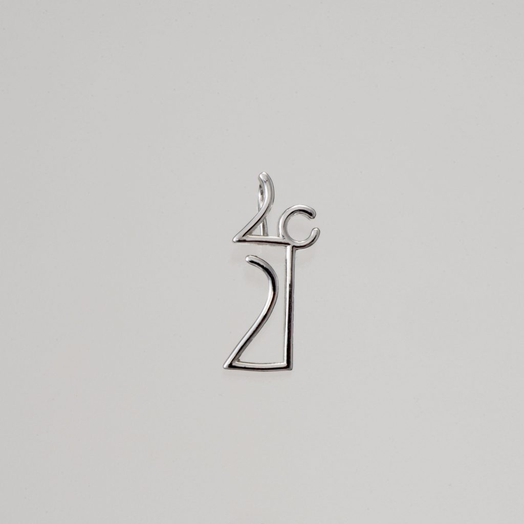 """Linear"" Pendant-lucky charm 2021 silver"